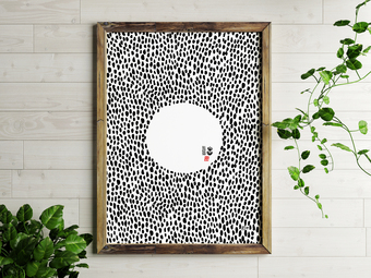 Order In Chaos Scandi Style Print