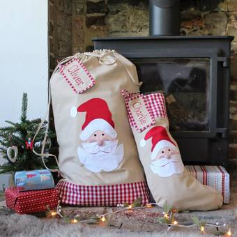Personalised Christmas Pudding Stocking