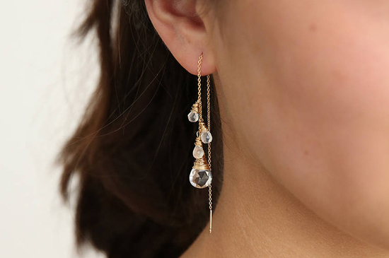 ear threaders moonstone
