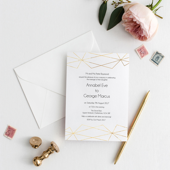 Geometric Foil Invitation