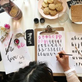 One of our stellar Modern Lettering workshops in full flow!