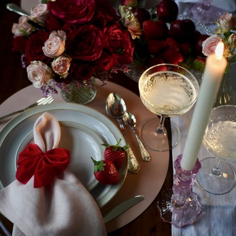 Valentine's Day Table, Dress For Dinner