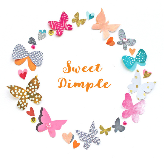 Sweet Dimple butterfly circle