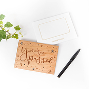 laser cut wooden greeting card