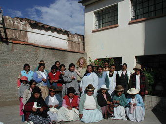 Sam with Sumac Knitting Team in Puno 2008