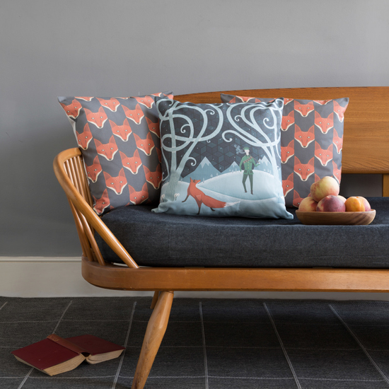 Fox Cushions on an Ercol daybed