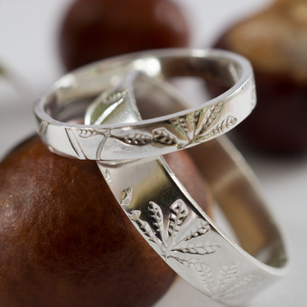 Chestnut Rings in silver