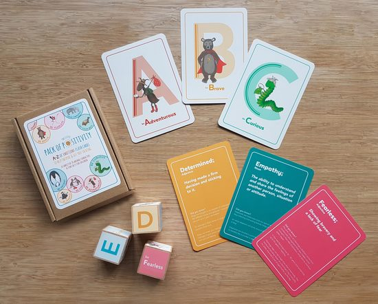 Little Pack of Positivity Flash cards by Fearless Flamingo