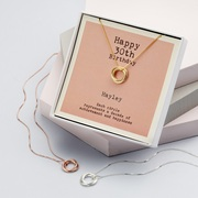 Personalised 30th Birthday Necklace