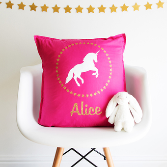 personalised-unicorn-cushion