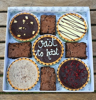 personalise your multi millionaire selection box. All our products are made in an exclusively Gluten free and Wheat free kitchen. We bake to order
