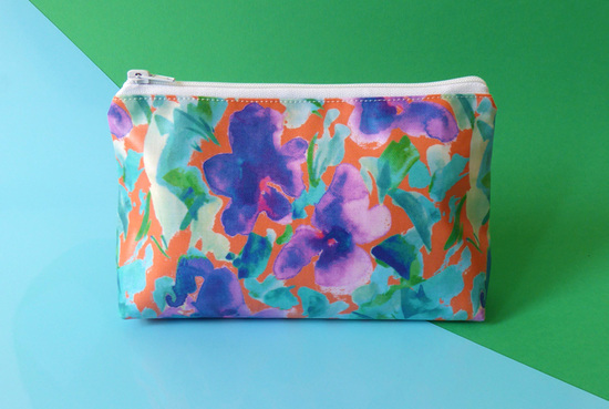 Delilah Floral Cosmetic Bag