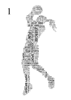 Netball Player Word Art