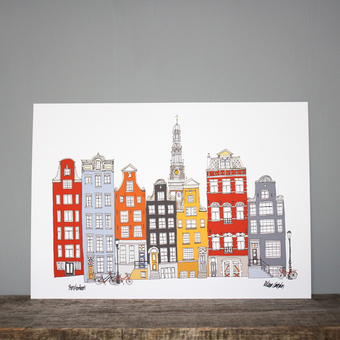 Amsterdam illustration print
