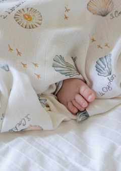 Seashells Bamboo Swaddle Blanket
