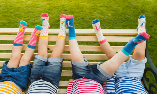children's socks designed to help your child learn the alphabet and match pairs