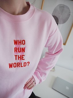 GRL PWR Who run The World Personalised Slogan T shirt from Rock On Ruby