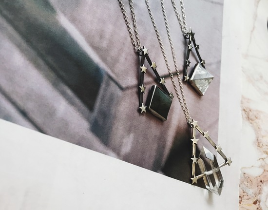 Our Pendulum and Ophelia II necklaces