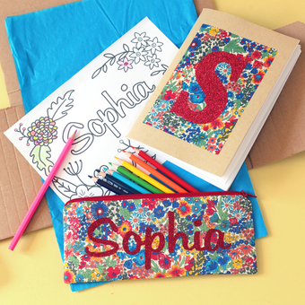 personalised-Liberty colouring set