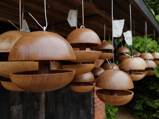 Oak Birdfeeders