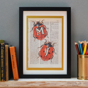 Personalised Ladybird Two Letter Print
