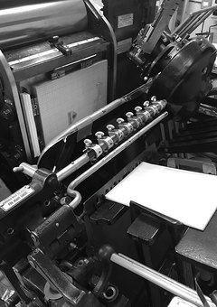 over the c letterpress printing