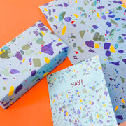 Bright cards and gift wrap