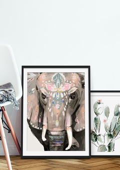 Dharma the boho elephant art print
