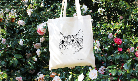 My favourite product photo of my Cat Tote Bag