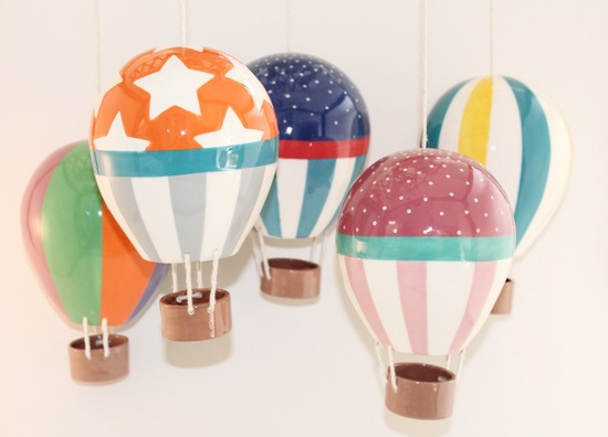 ceramic hot air balloons