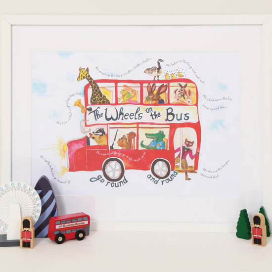 Wheels on the bus print