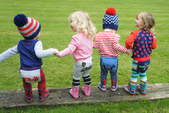 Blade & Rose, leggings, wellington boots, matching tops and bobbe hats.