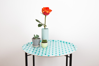 Foldable tray table with geometric print from MAiK london