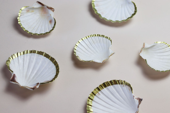 Gold Clam Shell Trinket Dish