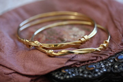gold plated silver knot bangles