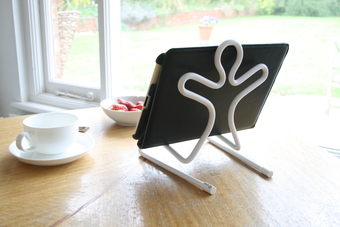 a fun practical stand to hold your iPad or tablet