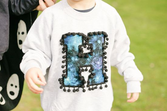 zilla kids letter sweater h cover photo galaxy print