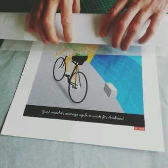 Personalised Breakaway Cycling Print