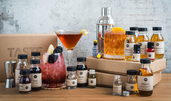 A selection of TASTE cocktails kits