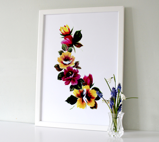 Tropical Floral Art Prints and posters. Beautiful Wall art makes the perfect gift
