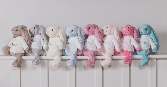 Personalised Bashful Bunnies