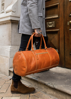 MAHI Leather Classic Duffle in Buffalo Tan