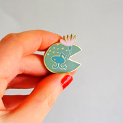 Enamel pin Lilypad by Stephanie Cole Design