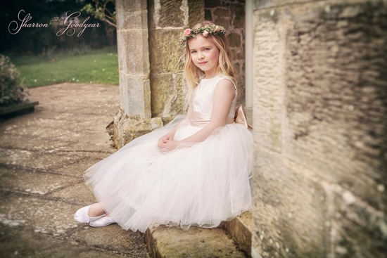 hand made Jemima flower girl dress