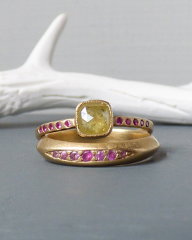 Fairtrade ethical engagement and wedding ring set