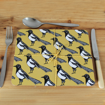 Animal and bird placemats that make the perfect wedding gift!