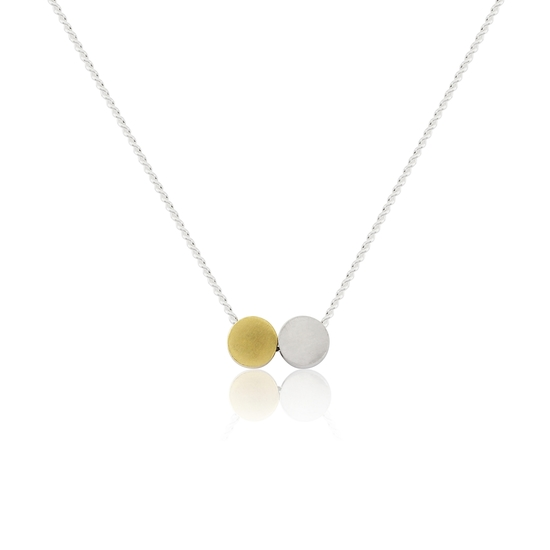 Two Together Tiny Circles Necklace