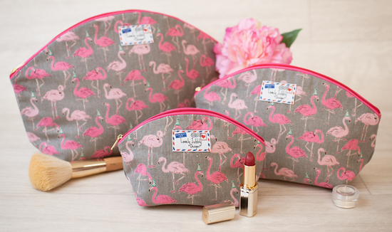 Flamingo Party Gift Makeup Wash Toiletry Bags by Lovely Jubbly Designs