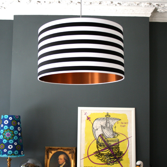 Metallic lined lampshades