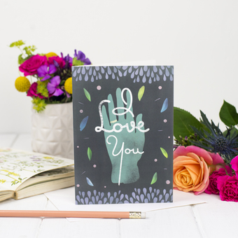 I love you chalkboard card